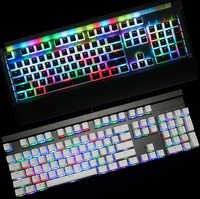 Pouding pbt Doubleshot keycap profil oem rétro-éclairage Keycaps lait blanc rose noir gh60 poker 87 tkl 104 108 ansi iso clés