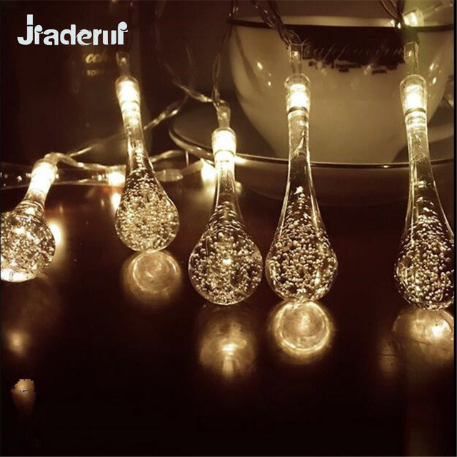 Jiaderui Led Christmas String Lights Crystal Bubble Water Drop Light For Garden Wedding Party Garlands