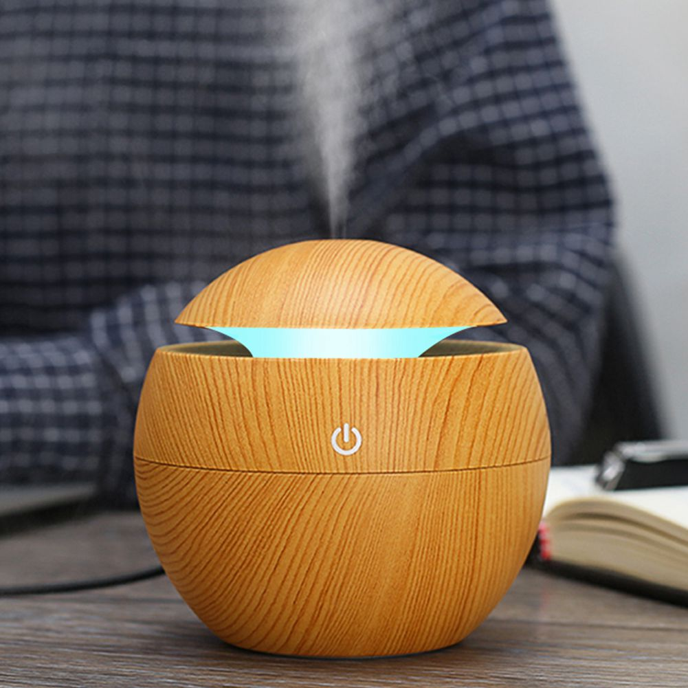 130ML USB Aroma Humidifier Essential Oil Diffuser Ultrasonic Cool Mist Humidifier Air Purifier 7 Color Change LED Night Light