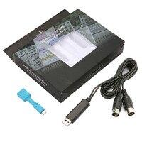 MIDI Cable 1 & 1 Ra để Cáp USB PC Giao Diện Chuyển Đổi Cho Nhạc Cụ Bàn Phím Đàn Piano Chuỗi Bộ Phận phụ kiện