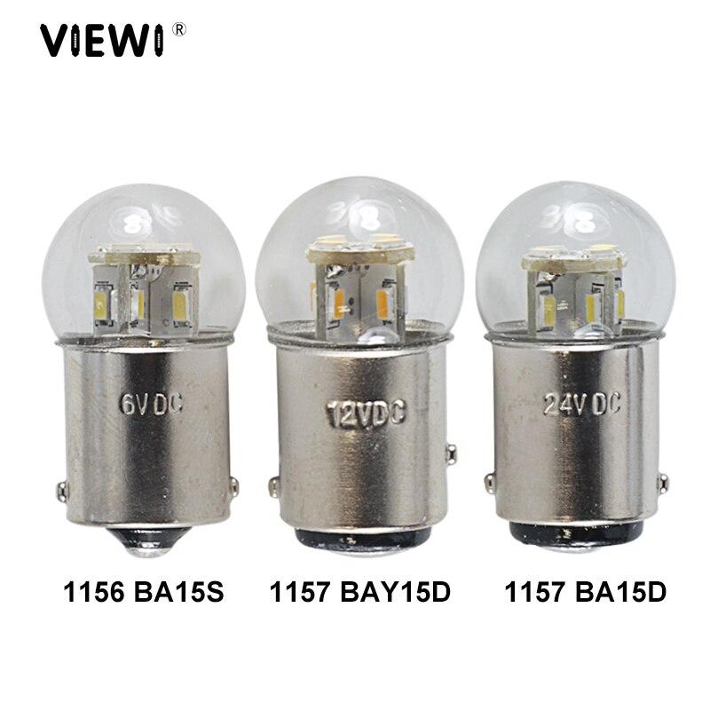 Светодиодные Автомобильные лампы S25 1157 BAY15D 1156 BA15S BA15d 1142, 6 в, 12 В, 24 В, 36 В, 48 В, 1,5 Вт со стеклянной крышкой, IP65, автомобильный сигнал поворота, сто...