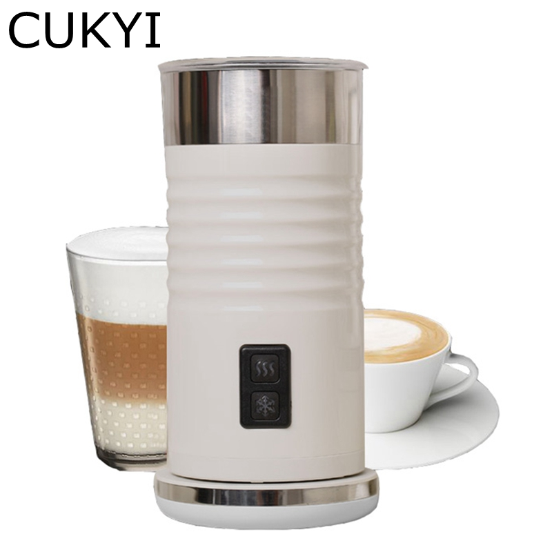 CUKYI Electric Milk Bubble Machine Fully Automatic Milk Foam Machine for DIY Playing Coffee Cappuccino Milk Bubble Maker 220v fully automatic electric milk formula hot and cold milk foam machine emf2w
