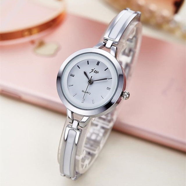 Brand Luxury Women Quartz Watch Fashion Stainless Steel Ladies Analog Bracelet W