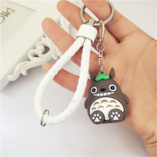 2018 New Extremely Cute My Neighbor Totoro Chinchillidae Keychain Pendant Fit For Bag Charms Purse Accessory Miyazaki Hayao