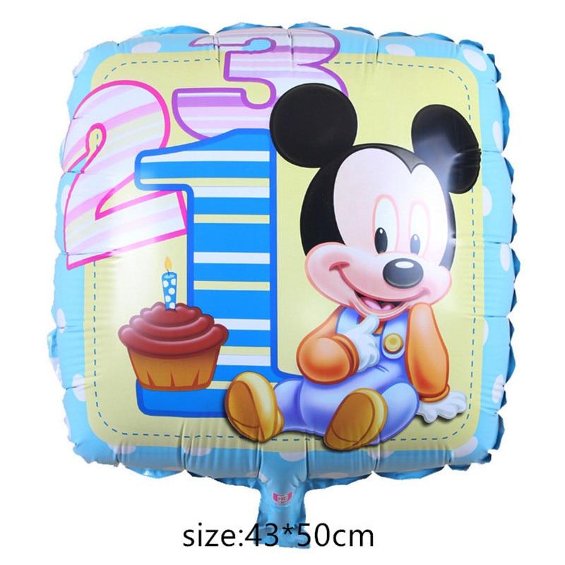 Гигантские Микки Минни Маус воздушный шар мультфильм фольги воздушный шар детский день рождения украшения классические игрушки подарок мультфильм шляпа