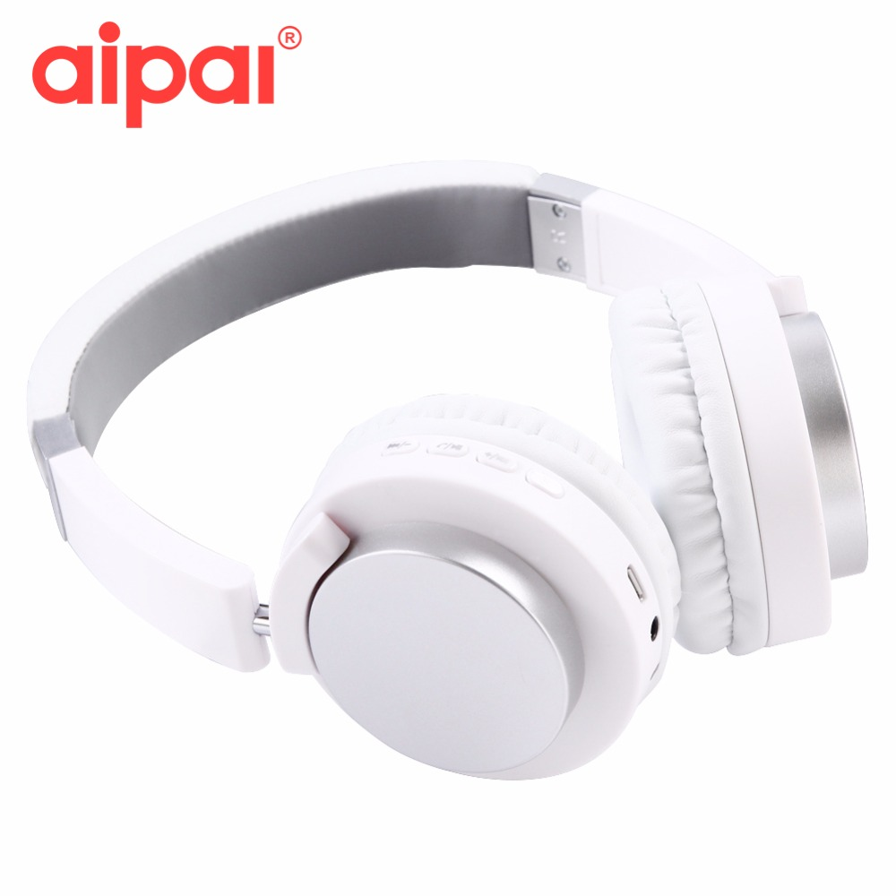 Aipal Bluetooth Headphone 4.2 Stereo Bluetooth Headset Wireless fone de ouvido Headphones With Mic For Xiaomi redmi Iphone clip on uv400 protection resin lens attachment sunglasses small