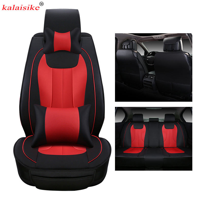 kalaisike leather Universal Car Seat Covers for SEAT all models Ateca LEON Toledo exeo IBL arona car styling auto accessories breathable car seat covers for acura all models mdx rdx zdx rl tl ilx tlx cdx car accessories auto sticker car styling