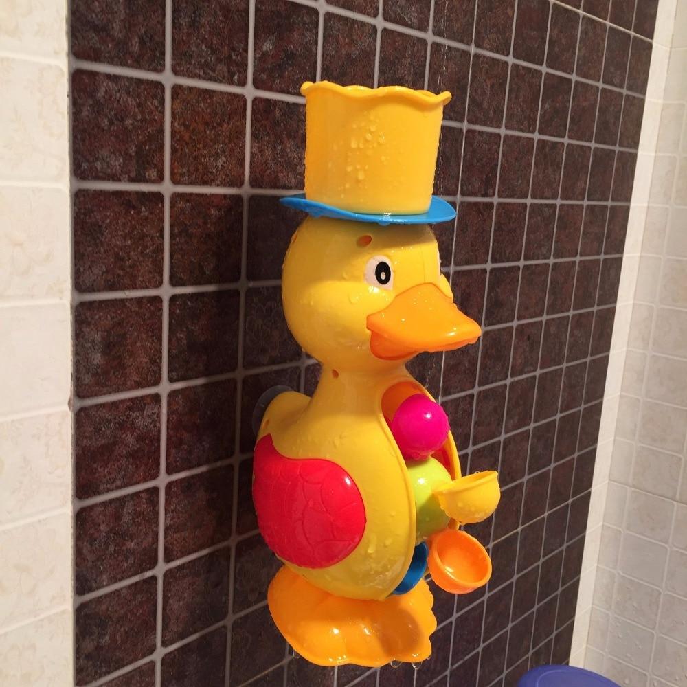 Children Faucet Bath Toy Baby Bath Duck Toys In Bathroom Kids Wheel ...