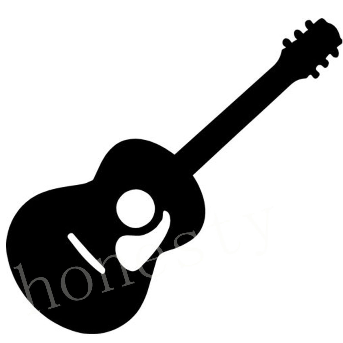 Acoustic Guitar Graphic Vinyl Car Body Bumper Window