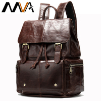 MVA Men's Backpack Travel Bag Organizer Duffle laptop Large Capacity Leather Big Backpack Casual Anti Theft Weekend Bag 8507