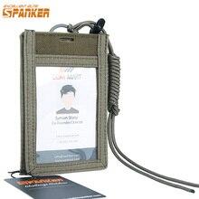 Отличный Элитный бизань охотничий ID держатель сумка тактическая сумка Lanyard карта сумка файл подвесной карман нейлон Molle спортивная сумка