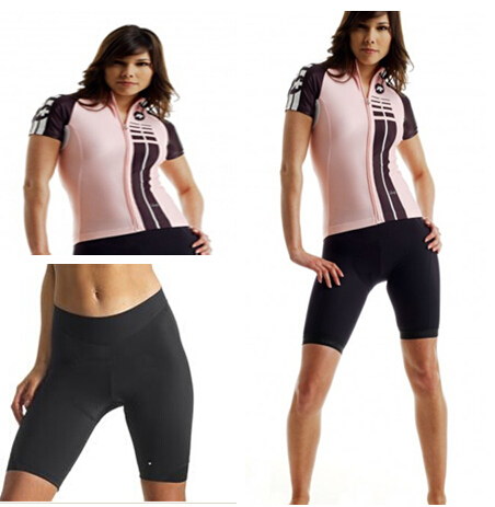2015 Assos Lady Cycling Jersey Women Cycling Kit Shorts Pad Sports