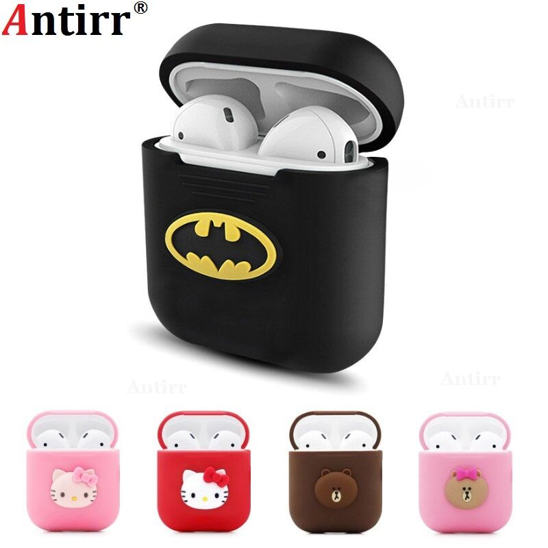 Unique 3D Marvel Avengers Cartoon Silicone Case For Apple Airpods Accessories Protective Decor Cover Pouch Earphone Case