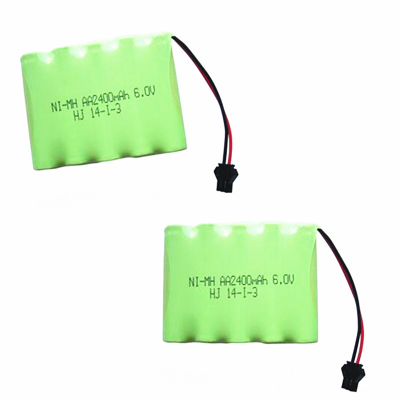 2PCS 6V 2400mAh Remote Control toy electric lighting lighting security facilities 5*AA Ni-MH battery RC TOYS battery group