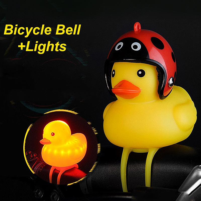 Duck Shape Bicycle Bells Bike Horn Cycling Light Handlebar Horn Alarm SafetyBell