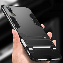 Luxury 3D Cool Armor Case For Huawei P20 lite P 20 Pro Hybrid PC+TPU Shockproof Rugged Stand Cover
