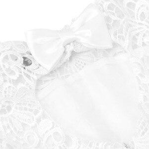 Image 5 - TiaoBug blanc fleur fille robe enfants Pageant anniversaire fête formelle dentelle longue robe noeud papillon première Communion robe robe de bal 2 12Y