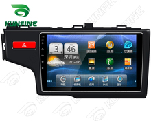 Quad Core 1024*600 Android 5.1 Car DVD GPS Navigation Player Car Stereo for Honda Fit 2014 Deckless Bluetooth Wifi/3G