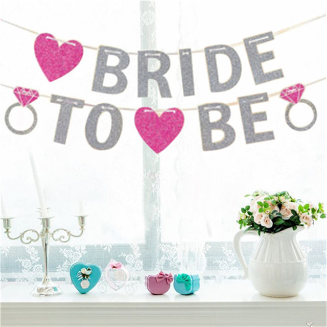 3m Letter Bride To Be Paper Banner Garlands For Wedding Decoration