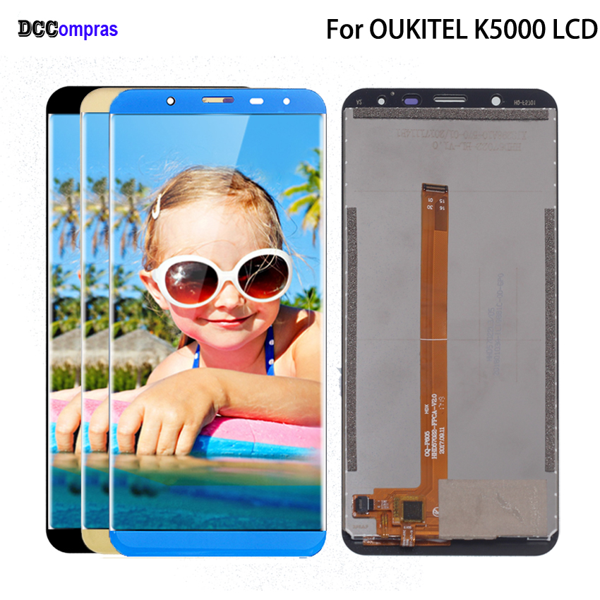 Original For <font><b>Oukitel</b></font> <font><b>K5000</b></font> LCD <font><b>Display</b></font> Touch Screen Digitizer Assembly Phone Parts For <font><b>Oukitel</b></font> <font><b>K5000</b></font> Screen <font><b>Display</b></font> Free Tools image