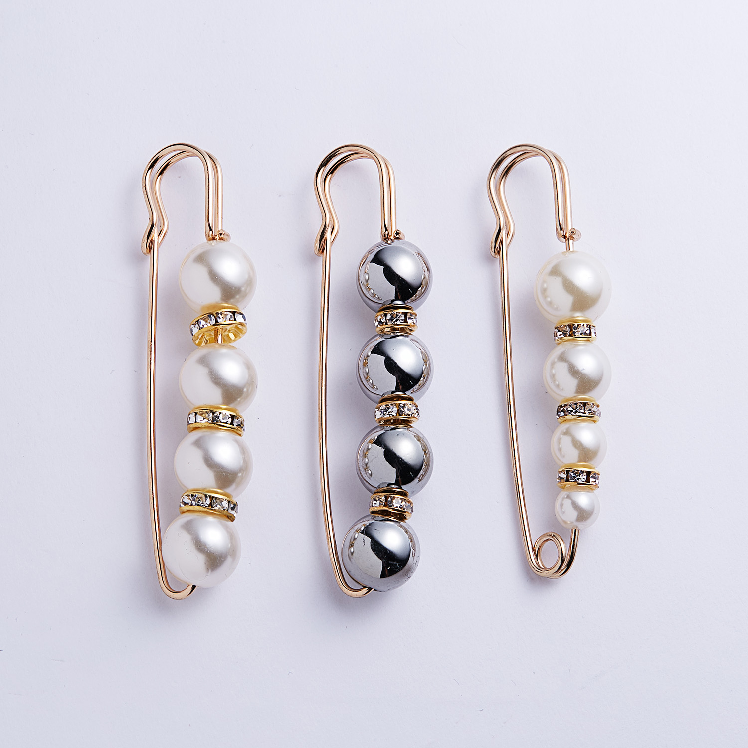 Big Beads 8 Chakra OneckOha Simulated Pearl Brooch Pin Dress Rhinestone Decoration Buckle Pin Jewelry Brooches For Men Women 13