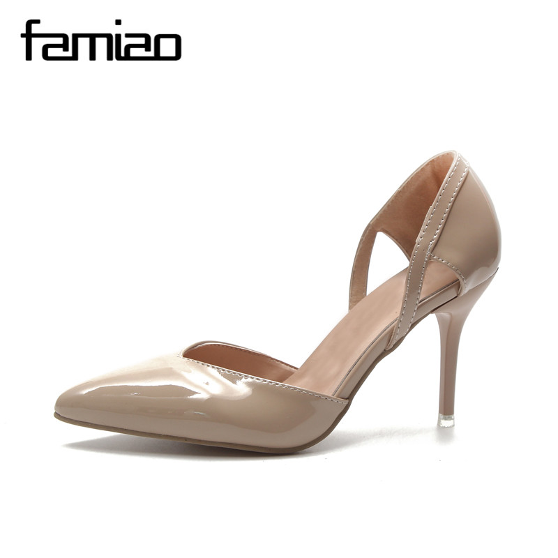 FAMIAO zapatos mujer 2017 New Fashion high heels women pumps thin heel  classic white red nede beige sexy prom wedding shoes - aliexpress.com -  imall.com 4a065147b9b8