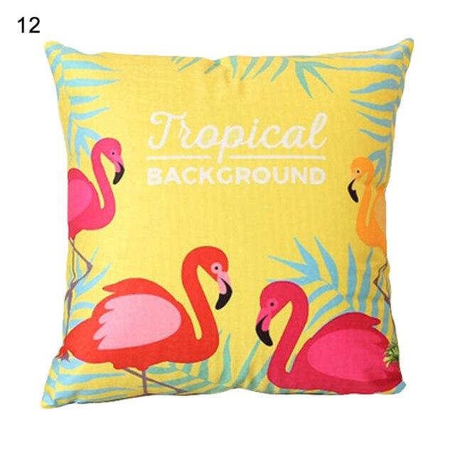 18 pollice Estate Flamingo Fodere per Cuscini Coperte e Plaid Coperture per Cuscini Divano Letto Complementi Arredo Casa Piazza Copertura Del Cuscino