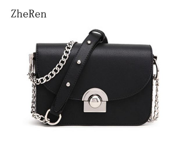 f7ad601c8ce2 US $27.11 |women Bag PU Leather Bags Ladies Small Crossbody Bags Designer  Chains Handbags High Quality Shoulder Bags For Women-in Shoulder Bags from  ...