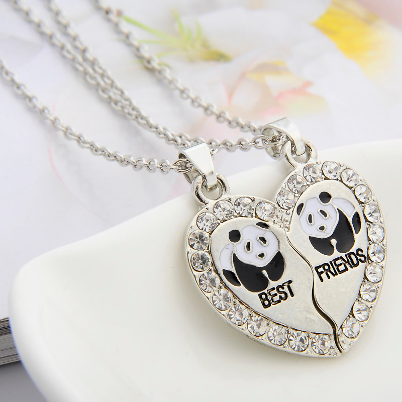 HTB1Tl3eUQPoK1RjSZKbq6x1IXXaf - 2 PCS/Set Animal Best Friends Friendship Couple Two Parts Pendant Necklace Best Gifts For Men Women BFF Jewelry
