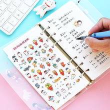 6sheets/lot Cartoon Cats Expression Decoration Sticker Transparent Stationery Stickers Scrapbooking for Diary Photo Album School