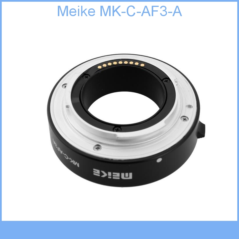 Meike MK-C-AF3-A en métal mise au point automatique AF Macro rallonge Tube DG Set 10mm 16mm pour Canon EOS M M2 monture Micro DSLR appareil photo