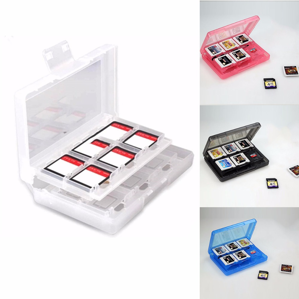 Storage-Box Protective-Holder Plastic For Nintend NDS NDSILL 2ds/3ds 3DSLL/XL 28in1 Nosii
