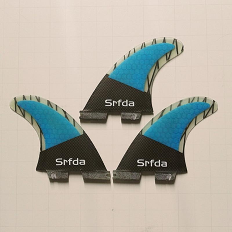 SURFBOARD FINS THRUSTER SET 3 BLUE FCS G-5 TRI NEW SURF FIN SKEG - Су спорт түрлері - фото 4