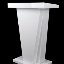 Белый Подиум трибуна подставки микрофоны