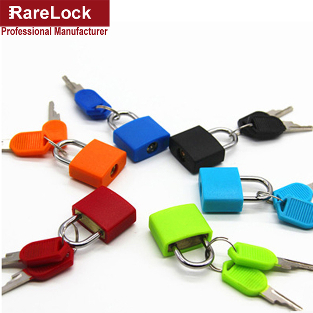 Rarelock 22mm Colour Brass Padlock with 2 Keys for Drawer Door