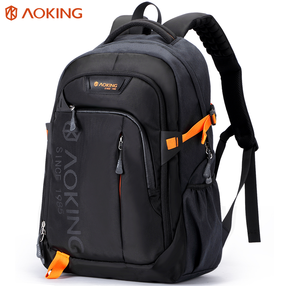 Aoking Men Women Fashion Lightweight Water Travel Backpack Massage Shoulder Straps Laptop Backpack Patent Design School backpack