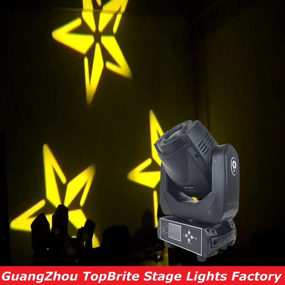 New 90W LED Moving Head Beam Spot Light DMX 512 Control 90W Gobo Led DJ Disco LCD Display With 3 Facet Prism For Free Shipping