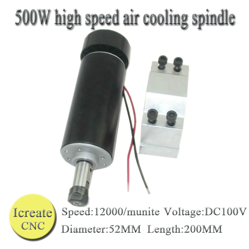 ФОТО Free Shipping  500W ER11 collet 52mm DC 0-100 CNC Carving Milling Air cold Spindle Motor For Engraving runout less than 0.01 mm