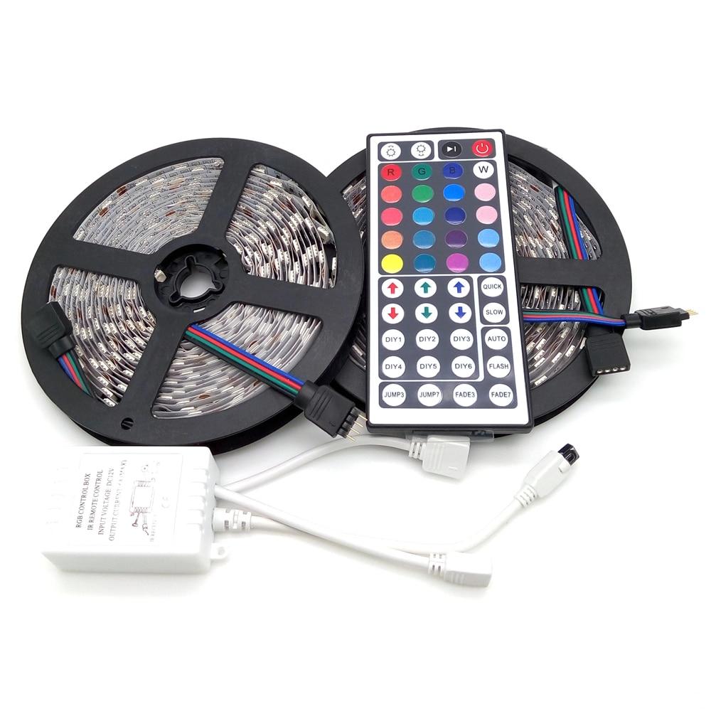 10M LED Strip Light 5050 RGB 600LED Çevik Zolaqlı İşıq Dəsti + - LED işıqlandırma - Fotoqrafiya 2