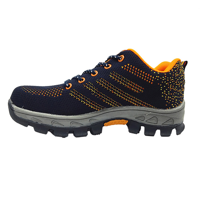 men fashion large size breathable mesh steel toe caps work safety summer shoes non-slip platform anti-puncture tooling boots 2