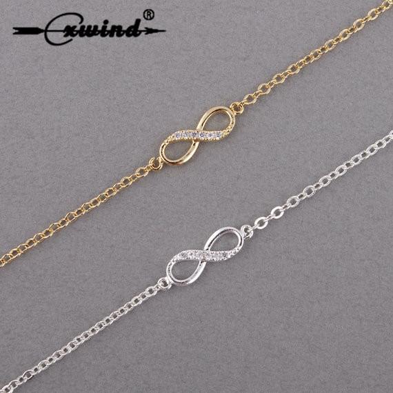 Cxwind Lucky-8 Bracelet Jewelry CZ Infinity Men Women for Pulseras Mujer Hot
