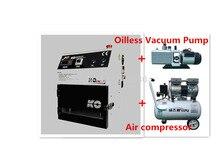 OCA Vacuum Laminating Machine +Air compressor +Oilless vacuum pump for LCD Display Screen of phone Repair /Refurbish Freeship