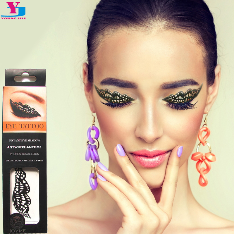 New butterfly eyeshadow tatttoo mask flash temporary for How to get fake tattoos off