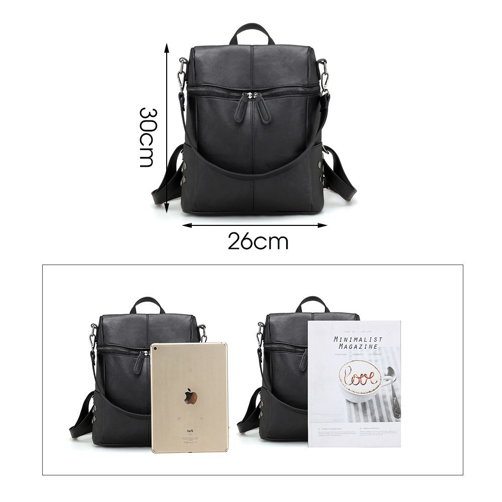 Herald Fashion Women s PU Leather Backpack School Bags For Teenage Girls Large Capacity Backpack Laptop Herald Fashion Women's PU Leather Backpack School Bags For Teenage Girls Large Capacity Backpack Laptop Bag Drop Shipping