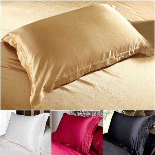 Silk Pillowcase Camel White Black Silk Satin Pillow Case