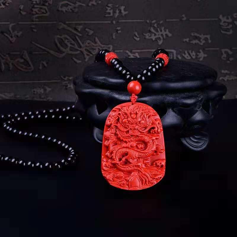 Neue Mode Handgemachte Halskette Mix Große Zinnober Anhänger Halskette Perlen Halskette Drop Verschiffen
