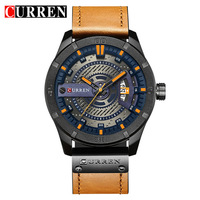 Relogio Masculino Men S Military Sport Quartz Watch Curren Watches Men Brand Luxury Leather Waterproof Wristwatch