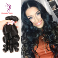 8A Peruvian Virgin Hair Loose Wave 3 Bundles Iwish Mario Hair Puruvian Hair Bundles Cheap Lose Wave Color 1B Natural Black