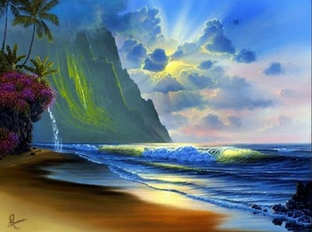 5D Diy Diamond Painting Cross Stitch beautiful sea side Scenery 100% full Square Diamond Rhinestones Pasted Wall Home Decoration beautiful ocean