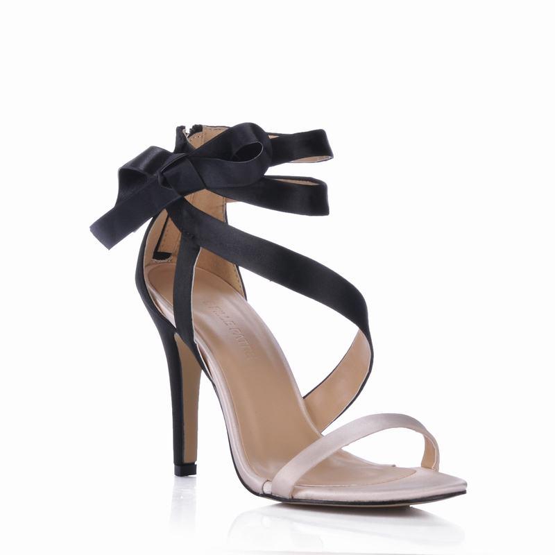 Dames Chaussures Sandales Mujer Mariage Valentine Black Partie Robe Club De Nouveau Zapatos Sexy Feminino Mince beige Haute Femme Tenis Femmes Bowtie Talons Yvfb7gy6